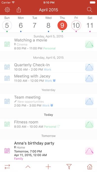 Memorandum: Personal Planner & Calendar Screenshot