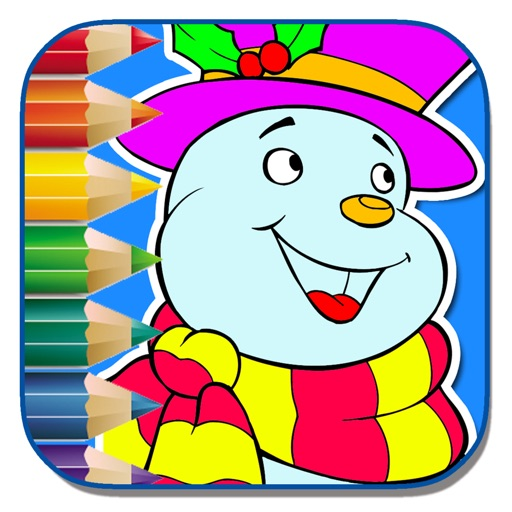 My Little Snow Man For Coloring Page Game Kids iOS App