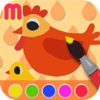 Farm Coloring Book - animal painting activity for children and toddler - create craft illustration and artwork