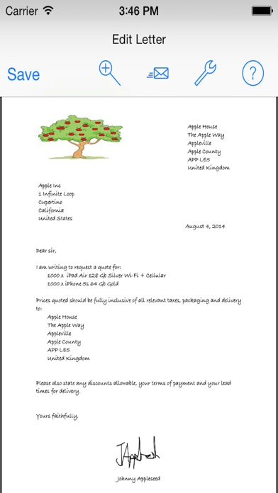Quick letters pro for personal business letters on the app store iphone screenshot 2 spiritdancerdesigns Gallery