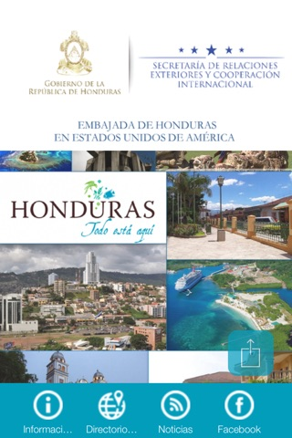 Embajada de Honduras en U.S. screenshot 1