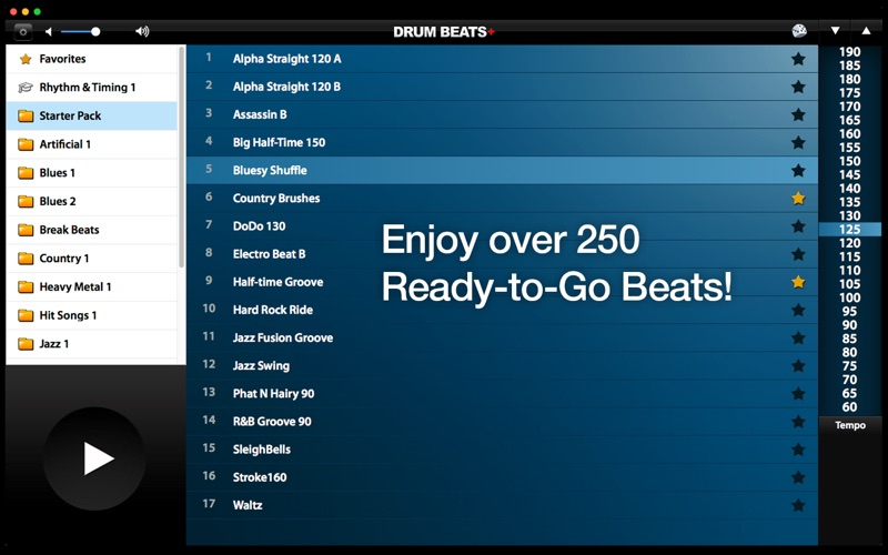 Screenshot #1 for Drum Beats+ (Rhythm Metronome, Loops & Grooves Machine)