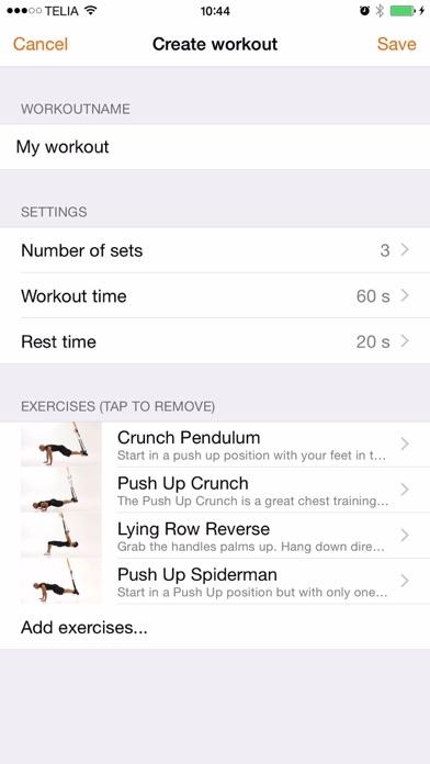 Bodyweight band training Screenshot