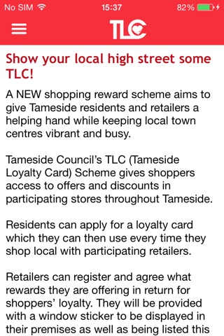 Tameside Loyalty Card screenshot 1