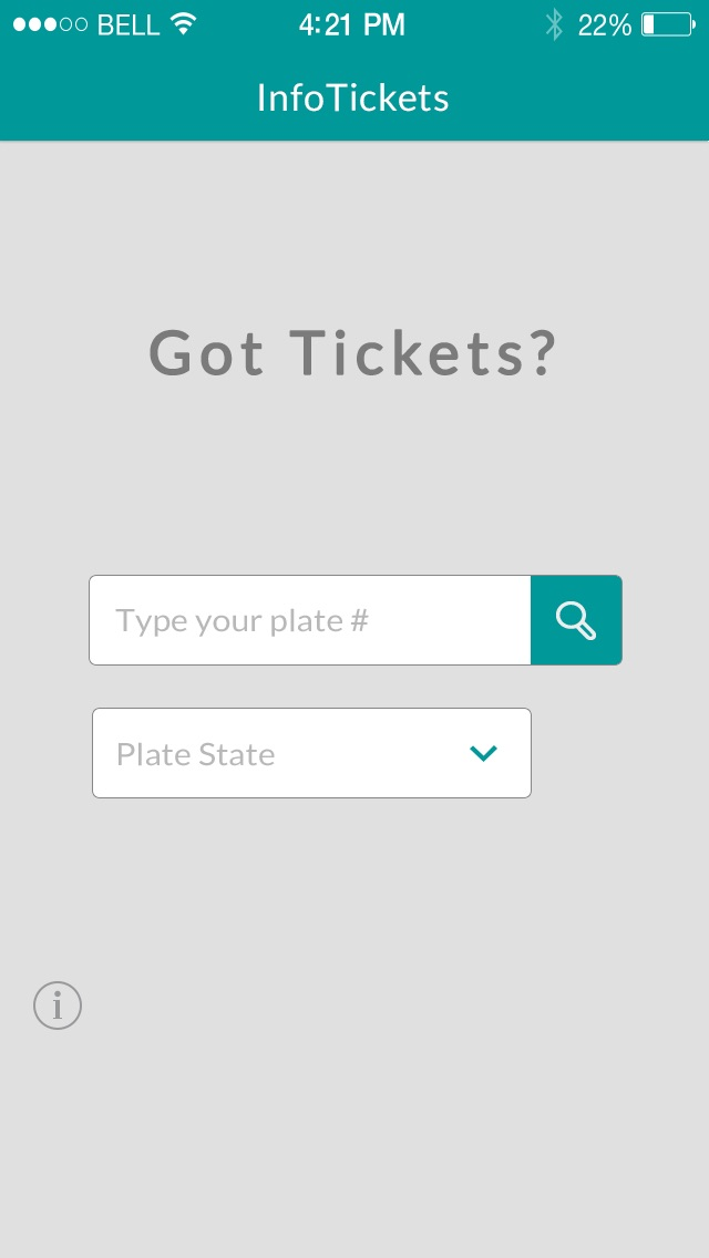 infoTickets - Find your traffic tickets with your license plate number Screenshot