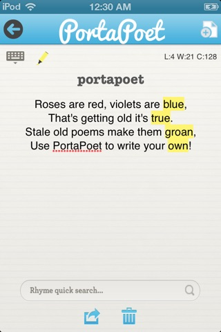 PortaPoet screenshot 2