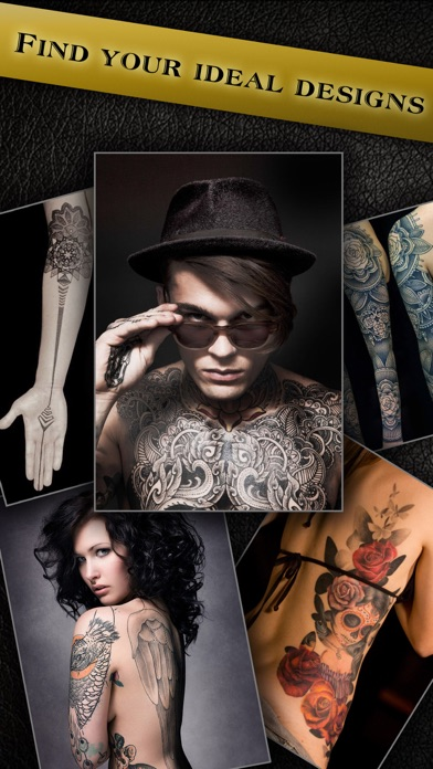Screenshots of Virtual Tattoo Maker FREE - Photo Designer to add artist tattoos & fonts on yr body for iPhone