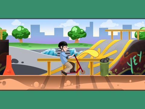 A Scooter Hero - Turbo Skyline Game на iPad