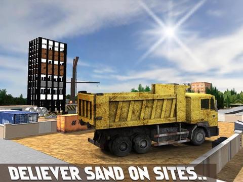 Песок экскаватор симулятор 3D - настоящий дальнобойщик и строительство моделирования игра для iPad