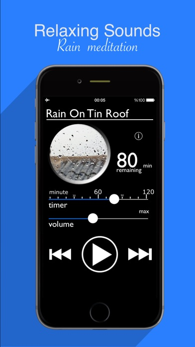 Rain Sounds : Natural raining sounds, thunderstorms, rainy ambience to help relax, aid sleep and focusScreenshot of 1