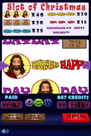 Slot of Christmas: Happy Birthday Jesus! screenshot 1