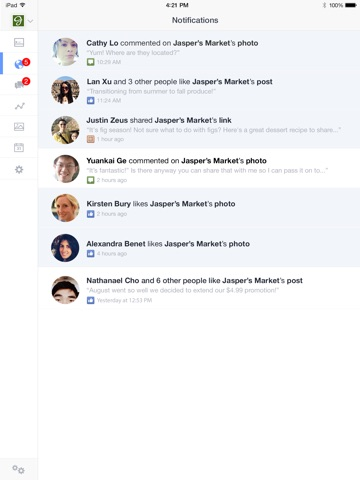 Facebook-Seitenmanager Screenshot