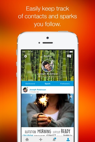 Qwikword - Share Photos. Be Social. React One Word At a Time. screenshot 4