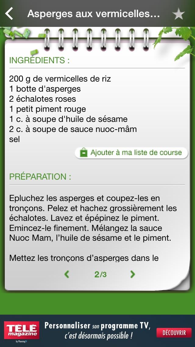 download iGourmand 101 recettes végétariennes apps 3