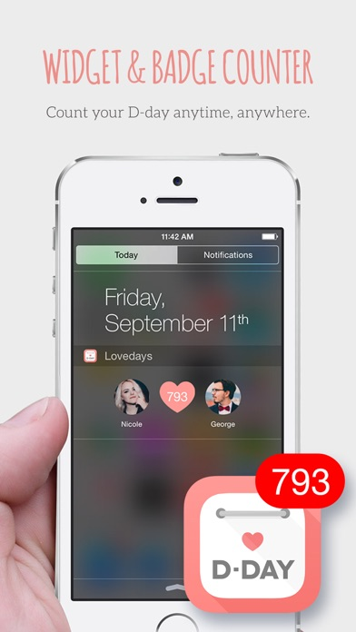 Screenshot for Lovedays - D-Day for Couples in New Zealand App Store