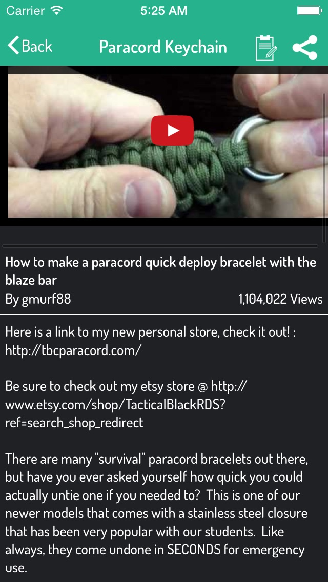 Paracord Guide - Sytl... screenshot1