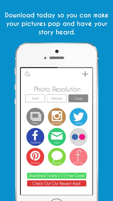 Screenshots of Quick Cap Free - Captions And Quotes Maker for iPhone