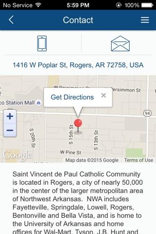 St. Vincent de Paul Rogers, AR screenshot 3