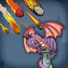 Dragon VS Fire Ball - FREE - Flying Lizard Armor Meteoric Invaders
