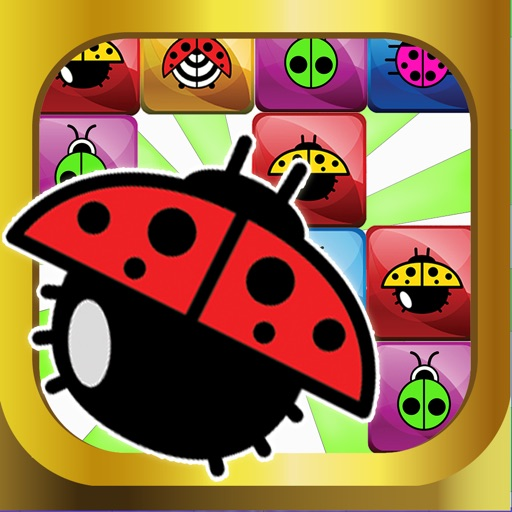 A Ladybug Match 4 Puzzle Connect Game - Very Addictive And Fun App for KIDS FREE iOS App