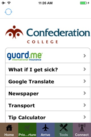 Confederation College Arrival screenshot 1