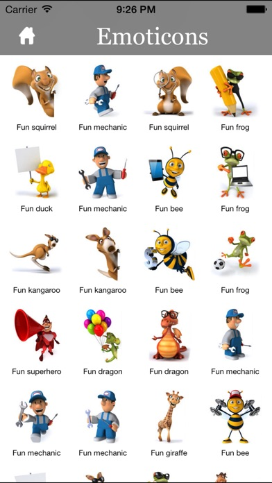Screenshot for 3D Emoji Characters Stickers for Chat Apps and Messengers in United States App Store