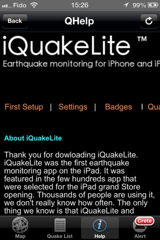 iQuakeLite screenshot 3
