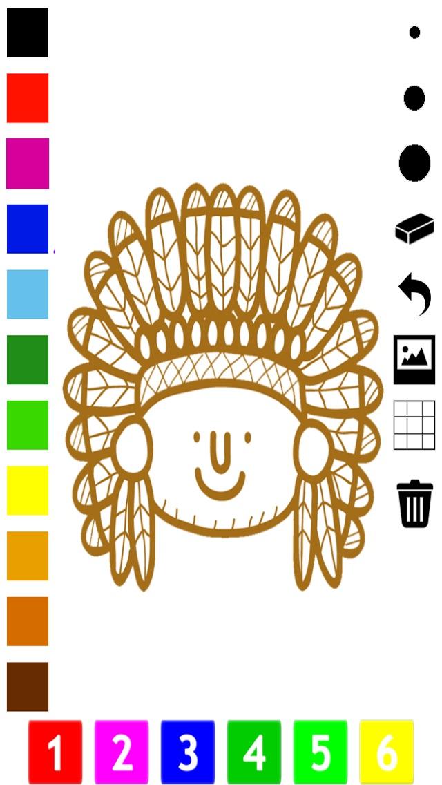 Screenshot of Un Libro da Colorare del Selvaggio West Per i Bambini: Impara a Dipingere Cowboy e Nativi Americani5