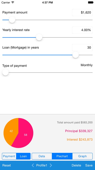 Screenshot #9 for Loan Calculator - Quick Estimate of Your Loan and Mortgage: Principal, Interest and Loan Balance