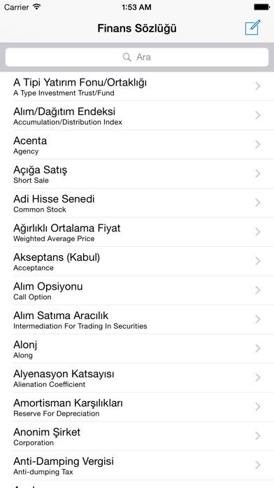 Finans Sözlüğü Screenshot