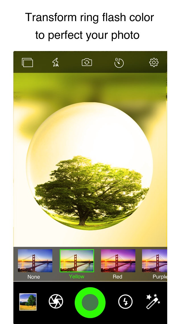 download CrystalCam - Retro Style Camera with Crystal ball Len, Fisheye, Crystal Scenes and Color Flashlight apps 4
