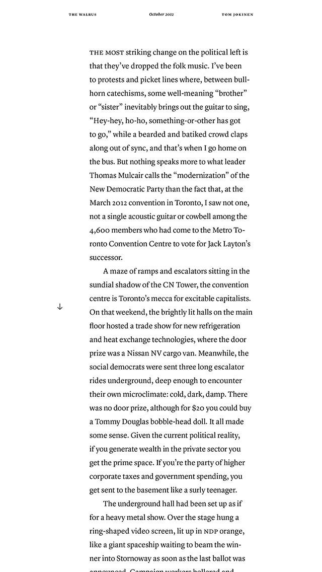 The Walrus Magazine review screenshots