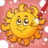 活動!圖畫書 為幼兒和兒童學畫畫的天氣圖片