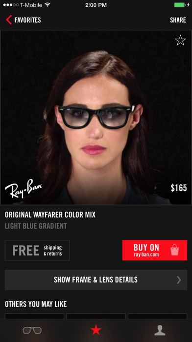 ray ban try on photo