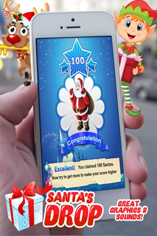 Santa's Drop Pro ~ An Educational Christmas Game for Kids and Candy Sticks screenshot 3