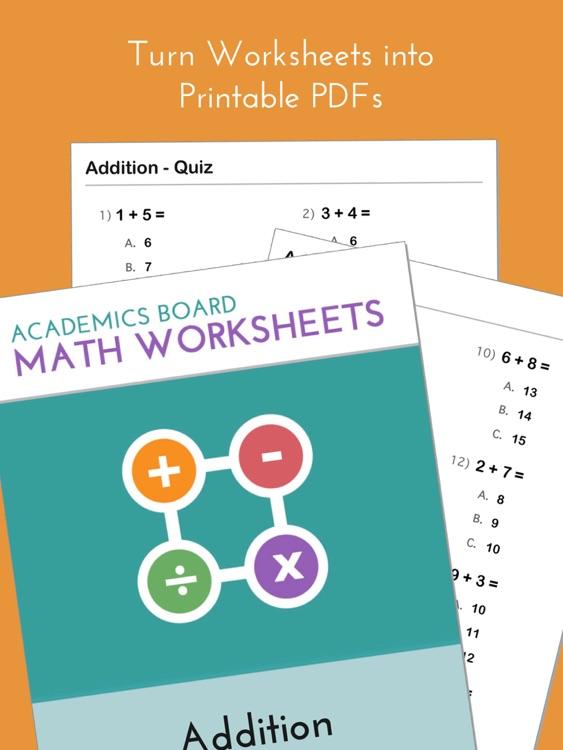 Academics Math Worksheets Maker Pro by Hien Ton