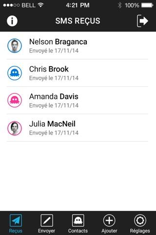 SMS Fantôme screenshot 2