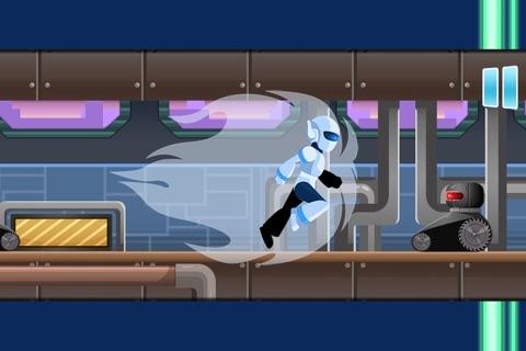 Atom Robot Race - Old School Platformer Game HD screenshot 2