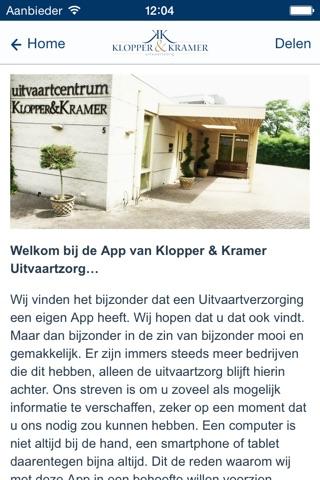 Klopper & Kramer uitvaartzorg screenshot 1
