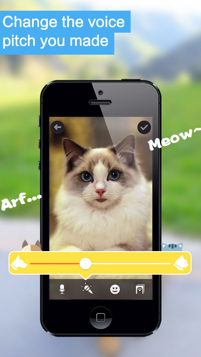 Screenshots of My Pet Can Talk - Make your dog, cat or other pets talking like talking tom, ginger, angela or ben FREE for iPhone