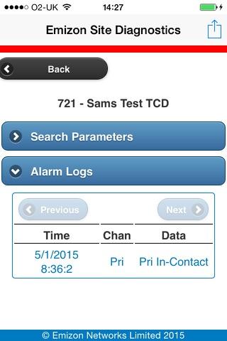 Emizon Site Diagnostics screenshot 3
