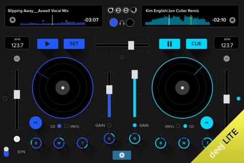 deej Lite - DJ turntable. Mix, record & share your music screenshot 1
