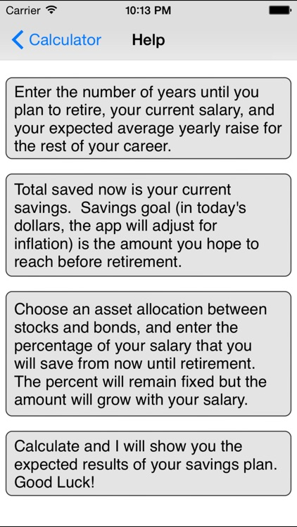 Retirement Savings Calculator Lite By Michael Kale