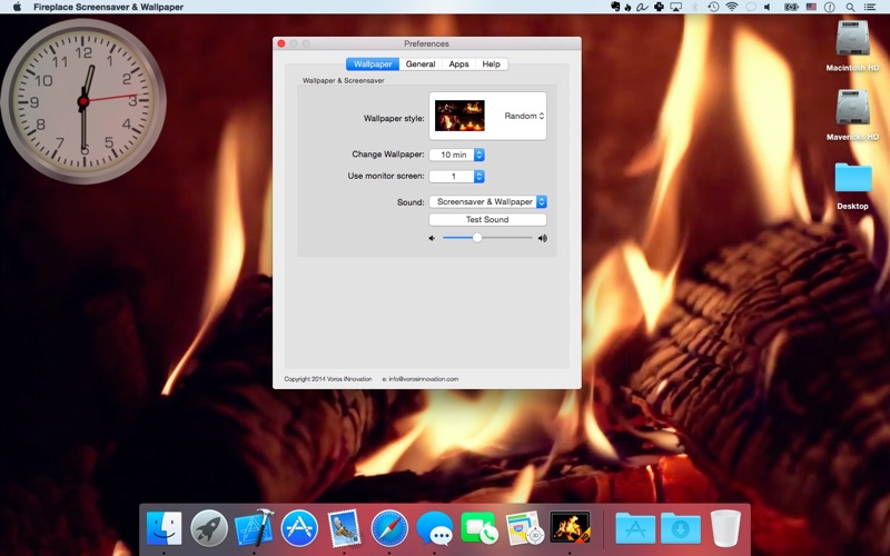 Fireplace Screensaver & Wallpaper HD with relaxing crackling fire ...