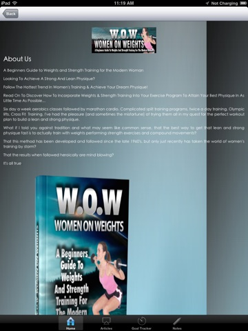 WOW:Beginners Guide to Weights and Strength Training for the Modern Woman screenshot 2