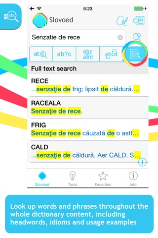 Romanian Explanatory Slovoed Classic dictionary screenshot 2