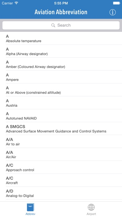 Aviation Abbreviation .μɣ Screenshot 1