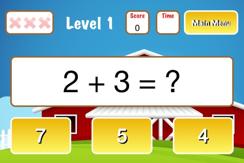 First Grade Math Challenge - FULL Barnyard Edition screenshot 1