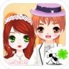 Glückliche Garten Hochzeit