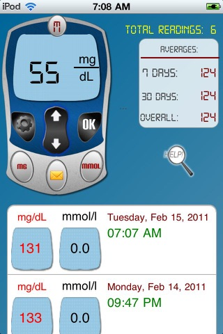 Diabetic Tracker Unlimited - Track your sugar level daily ( both mg/dl and mmol/L ) screenshot 1